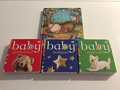 Baby Animals! Baby Peekaboo! Baby Bedtime! & Cheeky Monkey Takes A Nap - Books!!