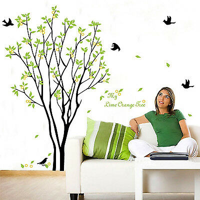 SUP Tree Bird Quote Removable Vinyl Wall Decal Mural Home Art DIY Decor Stickers