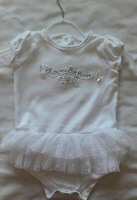 gorgeous baby vest with tutu 3-6 months