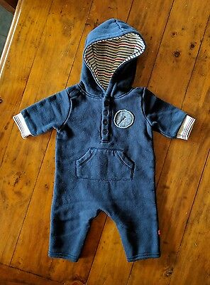 Bebe baby boy navy coverall romper size 000