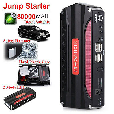 80000mAh Car Jump Starter Pack Booster Battery Charger Portable Power Bank NEW