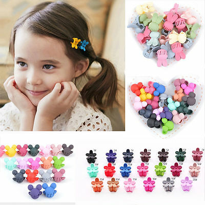 Lot 10/50Pcs Girls Kids Mini Rabbit Sweet Flower Hair Claws Clips Clamps Hairpin
