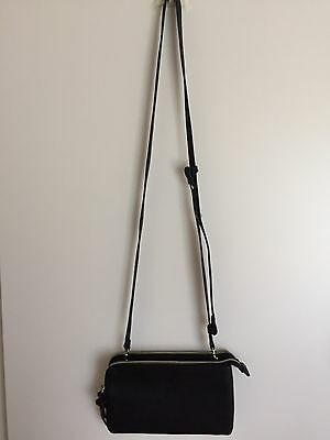 Target Black Small Crossbody Bag With 2 Zip Compartments