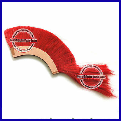 Red Plume Crest Brush Natural Horse Hair For 300 Spartan King Leonidas Helmet