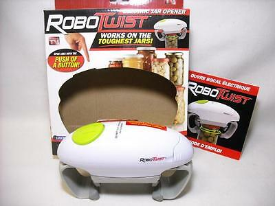 Robotwist Robo Twist Hands Free Electric Jar Opener As Seen On Tv Emson
