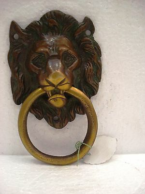 LARGE - ANTIQUE Style Brass DOOR KNOCKER - LION Style - Fully Brass (1546)