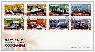 FO1005 2007  British F1 World Champions Guernsey Post FDC first day cover