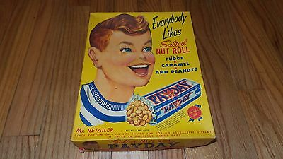 Vintage Pay Day Candy Bar Box (Store Display Mr. Retailer Salted Nut Roll Payday