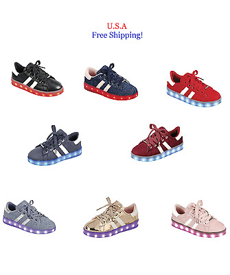 Unisex Light Up LED Shoes Luminous Sneaker Baby Toddler And Youth Kids Athletic
