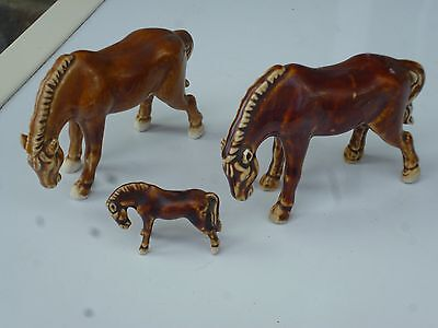Small Vintage Chinese Horse Figurines