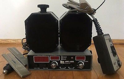 Kustom Signals Pro 1000DS Police Radar Unit Remote, two antennas, tuning forks