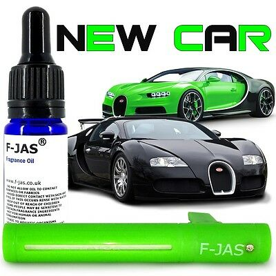 Car Freshener Vent Stick GREEN with F-JAS NEW CAR SMELL Refillable Reusable