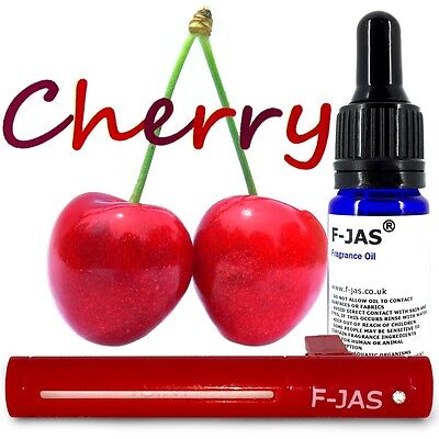 Car Freshener Vent Stick RED with F-JAS CHERRY Refillable Reusable UK Seller