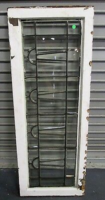 Great Size Antique Arts & Crafts Beveled Leaded Glass Window  Estate  # 580