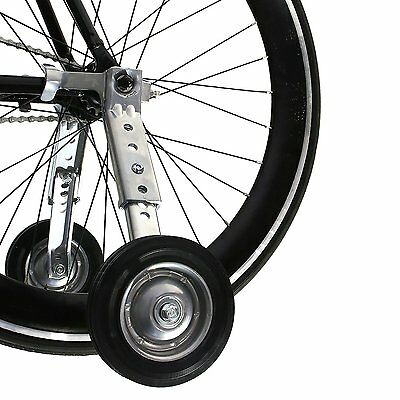 "Heavy Duty Adjustable Adult Bicycle Training Wheels Fits 20"" to 26"" Outdoor Bike"