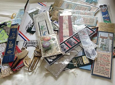 Job Lot Of 57 Antique Vintage And New Bookmarks