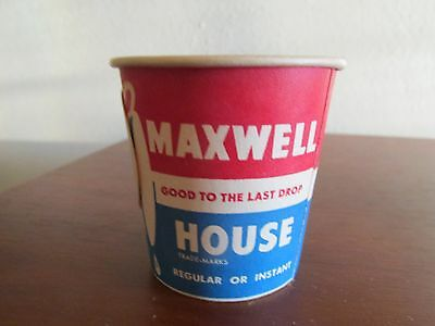 Maxwell House Small Advertising Paper Sample Cup Perfect For Collectors