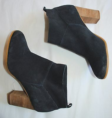 Crown Vintage Rita navy blue suede leather Ankle Boots size 9.5M