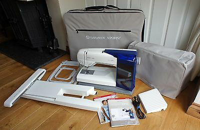 Husqvarna Viking Designer Epic Domestic Embroidery Sewing Machine Boxed Complete