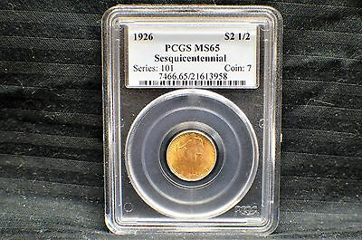 1926 Sesquicentennial of America Independence G$2.50  PCGS MS 65