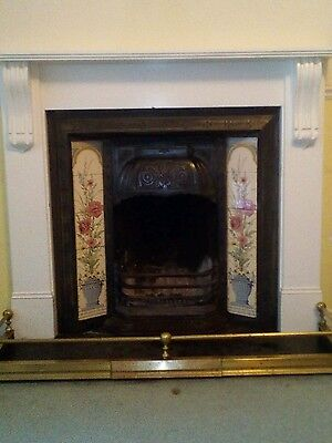 Victorian fireplace insert and painted surround
