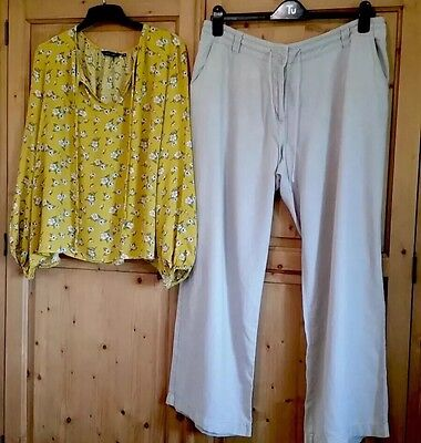 Next /New look trousers and top bundle size 18