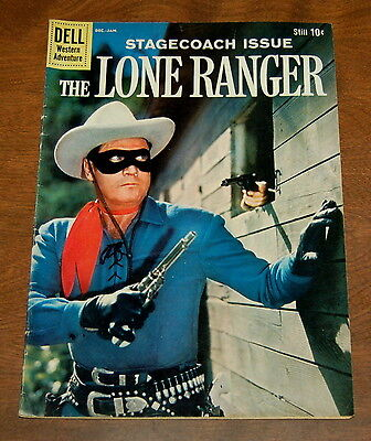 The Lone Ranger #131 FN/FN+ Dell 1960 Silver Age Western Comic Stagecoach Issue