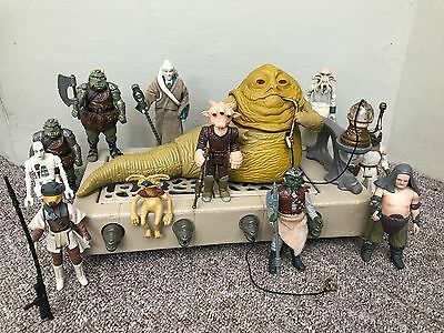 Star Wars Vintage JABBA the HUTT COMPLETE and 10 FIGURES !!
