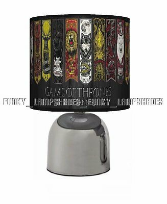 Game Of Thrones ☆ Bedside Touch Lamp ☆ Boys / Girls Night Light ☆ Matches Duvet