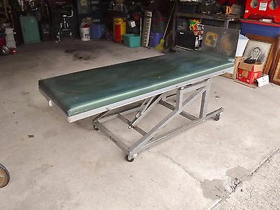 Vintage Crank Tilting Table Trolly Cart Funeral Home Washing,Dressing embalming
