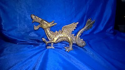 Antique Or Vintage Brass Dragon Chinese Japanese Oriental Mythical Gothic