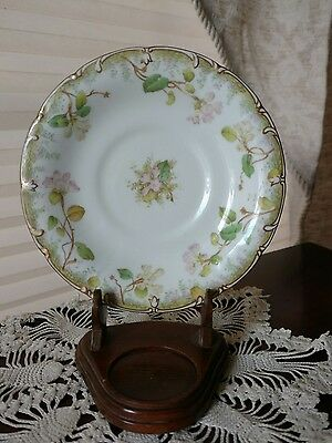 Cauldon England Brown Westhead Moore for DB BEDELL AND CO Gold Gilt Floral Plate