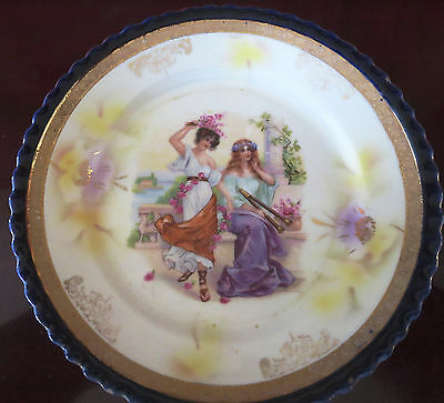 Estate Sale - Antique German Hand Painted Porcelain Plate