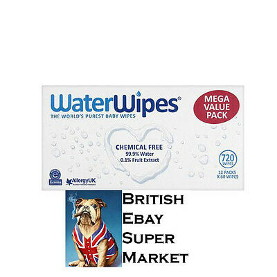 WaterWipes Chemical Free Baby Wipes 60 Wipes High Quality multi pack