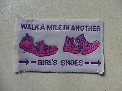 Walk A Mile In Another Girls Shoes Australian Girl Guides Cloth Badge