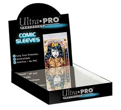 """Ultra Pro Comic Series Mylar 8"""" X 10"""" Photo Size Sleeves, 100 count box"""