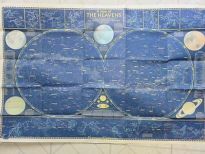 Vintage National Geographics 1957 Map of the Heavens