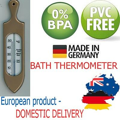 BATHTUB THERMOMETER WITH HANDLE Shower Bath Safety Baby Toddler PVC FREE Measure