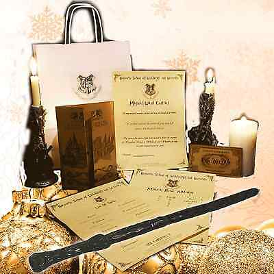 HARRY POTTER CHRISTMAS GIFT SET! WAND QUILL ETC New