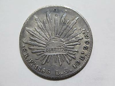 Republic Mexico 1886 Pi Lc 8 Reales Cap & Rays Chop Silver Coin Collection Lot