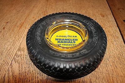 Vintage Goodyear Wrangler Radials tire ashtray~excellent condition