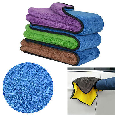 Thick Plush Microfiber Cleaning Pro Car Auto Detailing Soft Cloths Wash Towel