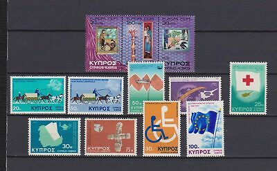 s16545) CYPRUS  MNH** 1975 Complete year sets 12v