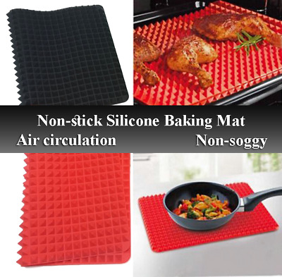 Non-stick Silicone Pyramid Pan Baking Mat Mould Cooking Sheet Oven Liner Tray AU