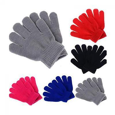 Kids Boy Girl Knitted Stretch Children Glove