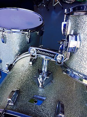 """Ludwig 1970's silver Sparkle Drum Kit 12"""", 16"""", 22"""" FREE SOFT CASES"""