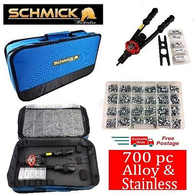 700pc RIVNUT KIT PLUS TOOL BAG STAINLESS STEEL NUTSERT SET RIVNUTS RIVET NUT