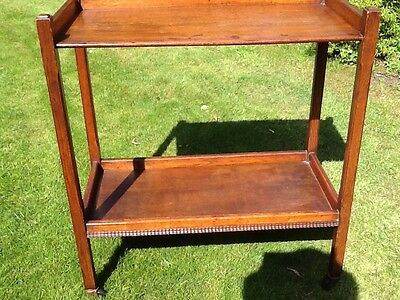 Vintage Arts & Crafts Honey Oak Drinks Trolley / Buffet