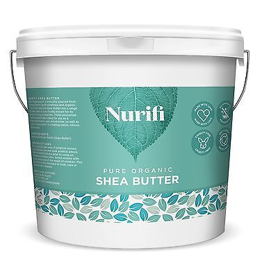 ORGANIC SHEA BUTTER, 100% Unrefined, Raw & Pure - 100g, 200g, 500g, 1KG