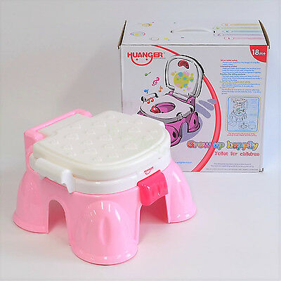 New Toddler Portable Musical Baby First Potty Chair Training Toilet Seat Pink